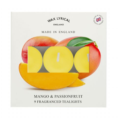 Mango & Passionfruit TEALIGHTS Made In England Scented Candles Wax Lyrical (Pack of 9) (1)